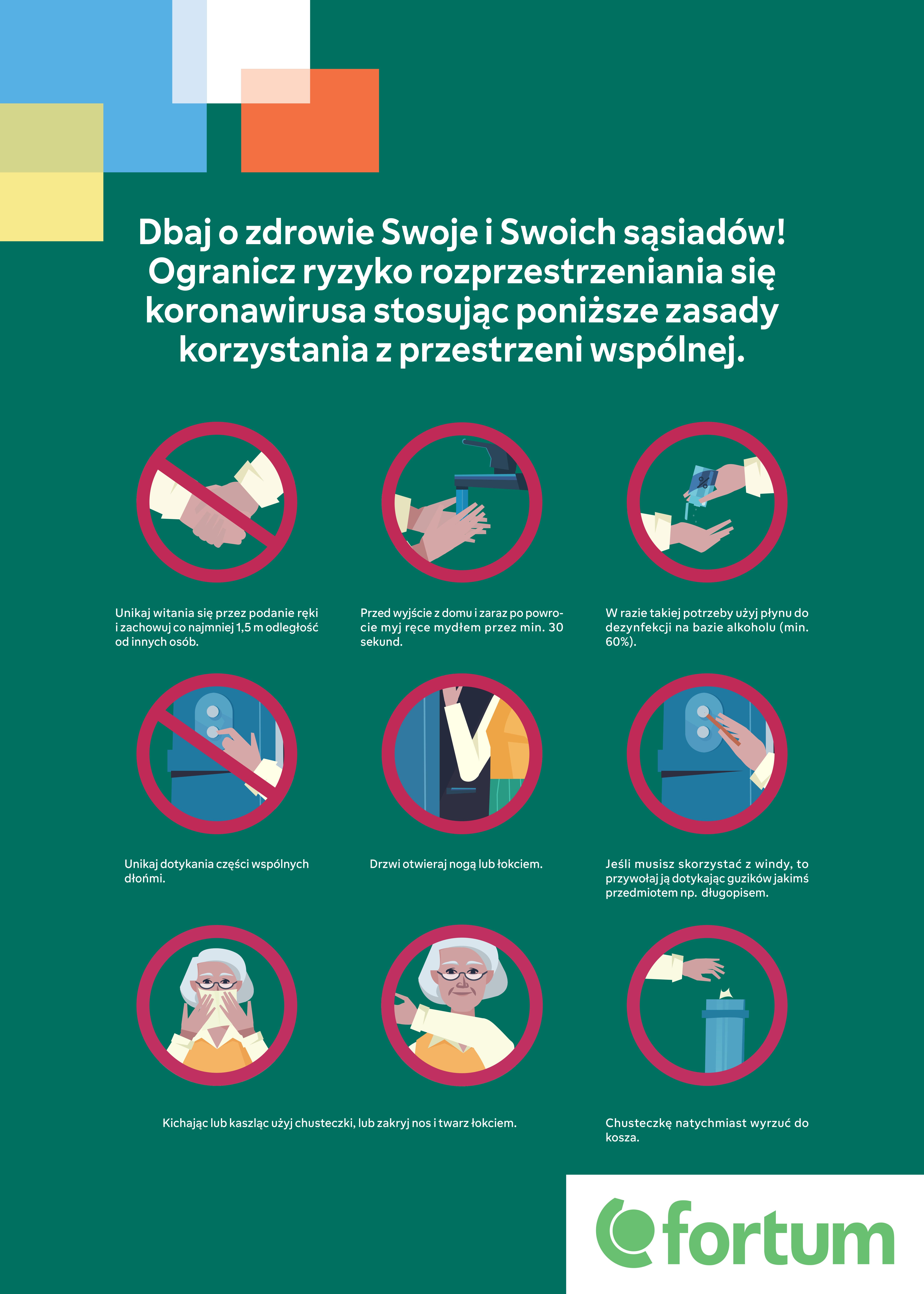 infografika przedstawiająca dobre praktyki higieny